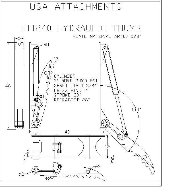 hydraulic excavator thumb 12